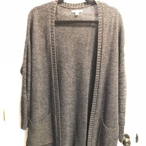 Charcoal American Eagle knit cardigan, size L
